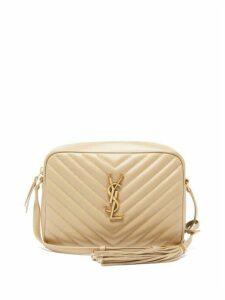 Saint Laurent - Lou Medium Quilted-leather Cross-body Bag - Womens - Beige