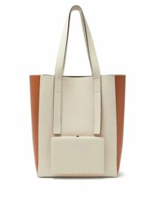 Lutz Morris - Seveny Grained-leather Tote Bag - Womens - Cream Multi