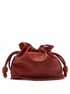 Loewe - Flamenco Leather Clutch - Womens - Red