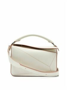 Loewe - Puzzle Leather Cross-body Bag - Womens - White Multi