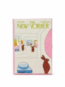 Olympia Le-tan - The New Yorker Art Bunny Clutch Bag - Womens - Pink Multi