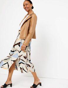 M&S Collection Geometric Split Front Midi Pencil Skirt