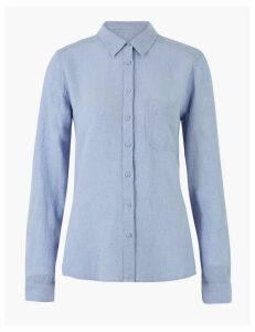 M&S Collection Linen Long Sleeve Shirt