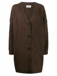 Acne Studios oversized V-neck cardigan - Brown