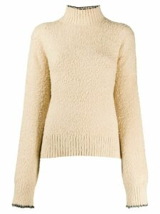 Acne Studios brushed turtleneck jumper - NEUTRALS