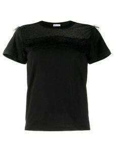 RedValentino tulle panel T-shirt - Black