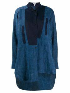Loewe asymmetric step-hem longline shirt - Blue