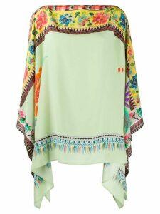 Etro printed poncho blouse - Green