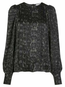 ANINE BING Renee snake-print blouse - Black