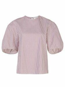 Tibi striped poplin shirt - Black