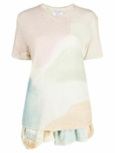 Collina Strada x Charlie Engman colour-block peplum T-shirt - PINK