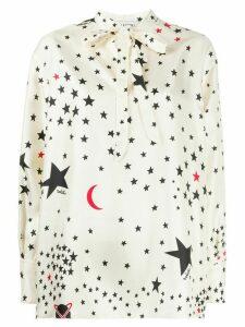 Valentino star-print blouse - NEUTRALS