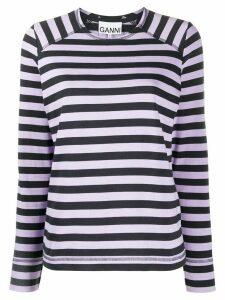 GANNI striped T-shirt - Blue