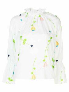Cynthia Rowley Aurelia embroidered blouse - White