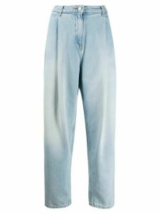 Magda Butrym tapered pleat jeans - Blue