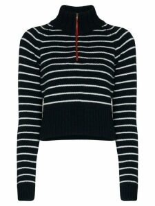 By Any Other Name striped zip neck jumper - Blue