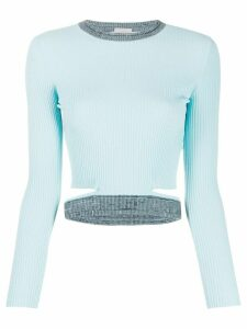 MRZ cropped ribbed top - Blue