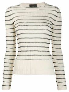 Roberto Collina striped ribbed jumper - NEUTRALS