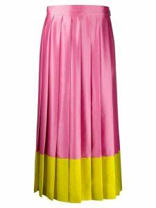 MSGM pleated midi skirt - PINK