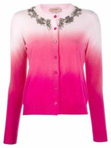 Twin-Set embellished collar cardigan - PINK