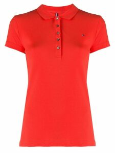 Tommy Hilfiger logo polo shirt - Red