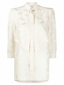 Stella McCartney horse jacquard blouse - NEUTRALS