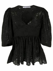 Vivetta embroidered 3/4 sleeves blouse - Black