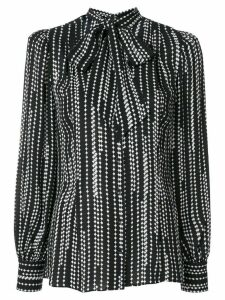 Elie Tahari Percy striped print shirt - Black