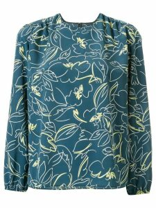 Tomorrowland scribble print blouse - Blue