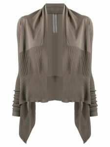 Rick Owens draped collar cardigan - Grey