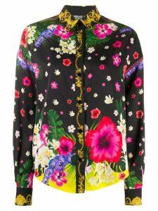 Versace Jeans Couture floral print shirt - Black