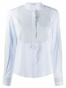 MRZ contrasting bib striped shirt - Blue