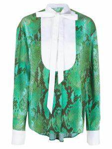 MSGM snakeskin print shirt - Green