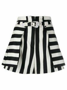 Pinko striped flared shorts - Black