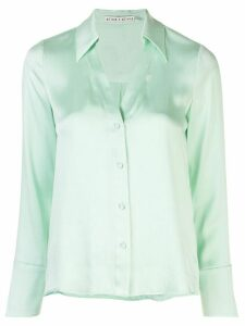 Alice+Olivia Eloise satin shirt - Green