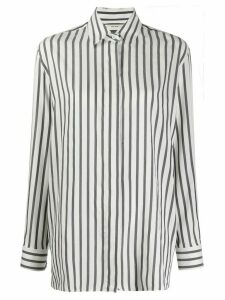 The Row long-sleeved striped shirt - White