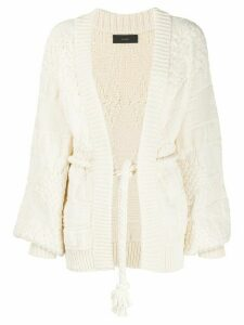 Alanui textured knit cardigan - NEUTRALS