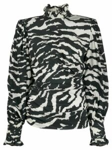 Isabel Marant zebra print blouse - Black