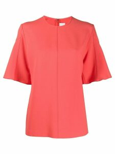 Victoria Victoria Beckham panelled sleeve blouse - ORANGE