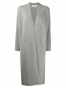 Sminfinity long knitted cashmere cardigan - Grey