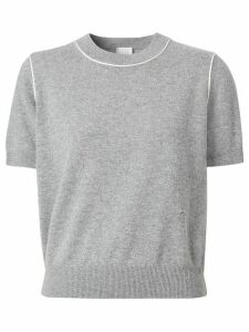 Burberry Monogram motif knitted top - Grey