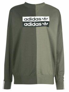 adidas two tone logo sweatshirt - Green