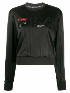 Fila sequined logo sweatshirt - Black