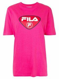 Fila logo-print crew neck T-shirt - PINK