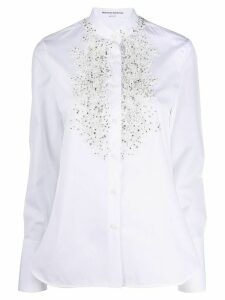 Ermanno Scervino beaded lace embroidered shirt - White