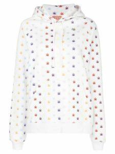 Lhd weed print hoodie - White