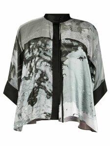 Sacai map print swing blouse - Black