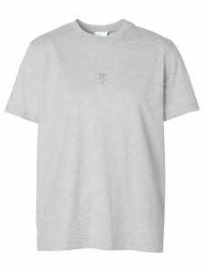 Burberry embroidered TB motif T-shirt - Grey