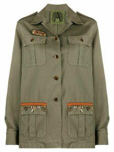 Alessandra Chamonix embroidered military jacket - Green