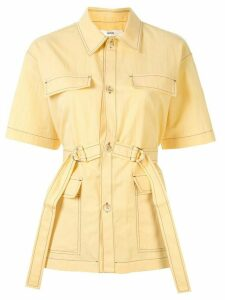 G.V.G.V. crinkled trench-shirt - Yellow
